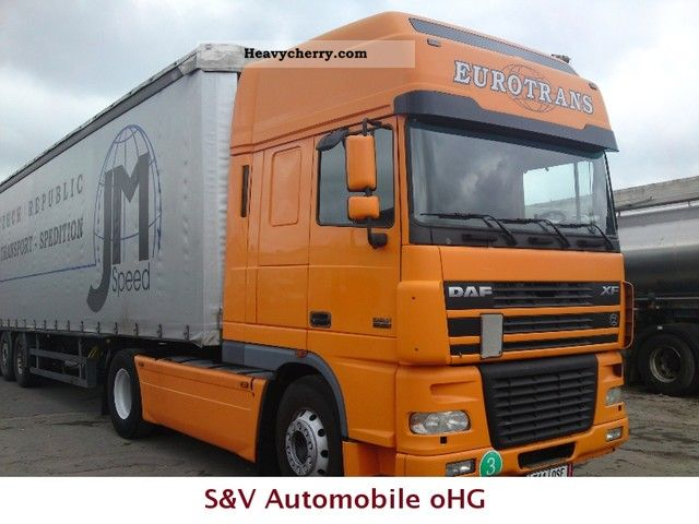 2003 DAF  XF95-480 automatic Semi-trailer truck Standard tractor/trailer unit photo