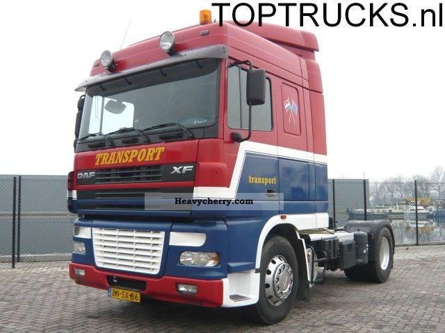 2003 DAF  XF 95.430 TIPPER HYDRAULIC DEB SPACECAB Semi-trailer truck Standard tractor/trailer unit photo