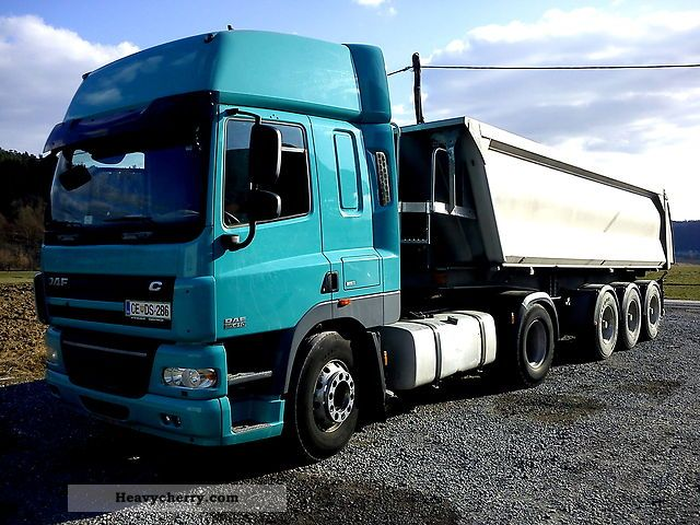 Tractor Trailer Units : Daf cf standard tractor trailer unit photo and specs