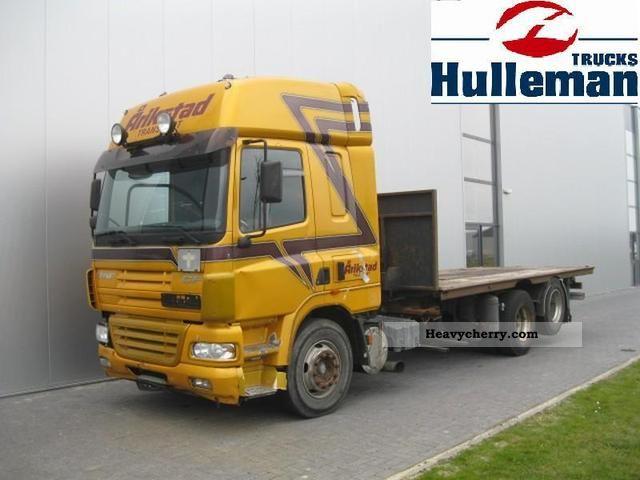 2003 DAF  CF85.430 6X2 MANUAL HYDRAULIC RETARDER EURO 3 Truck over 7.5t Stake body photo