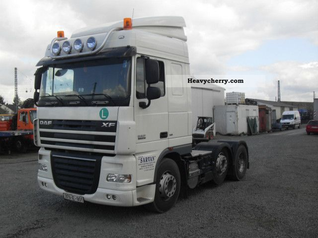 2008 DAF  105 510 / € 5 6x2 retarder Semi-trailer truck Heavy load photo