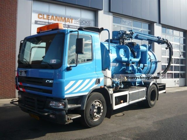 2002 DAF  75 CF 310 Truck over 7.5t Vacuum and pressure vehicle photo