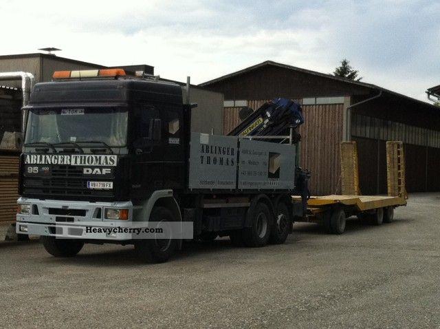 1994 DAF  400 ATI + Palfinger Crane JIB to 24 m Truck over 7.5t Stake body photo