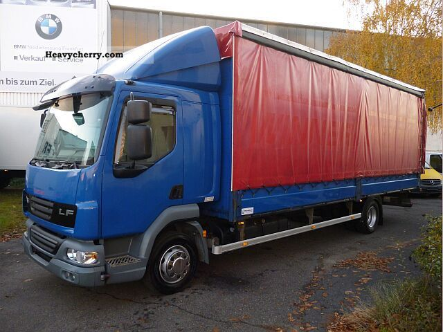 2007 DAF  LF 45.220 7.20 Edscha Plane € 4 + cot Truck over 7.5t Stake body photo
