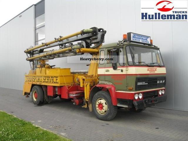1982 DAF  2300 TURBO INTERCOOLER 4X2 Truck over 7.5t Concrete Pump photo