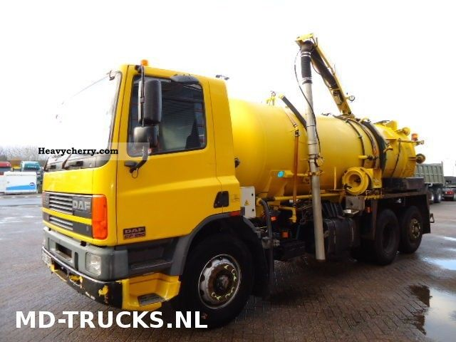 1999 DAF  CF 75.250 6X2 RHD Truck over 7.5t Vacuum and pressure vehicle photo
