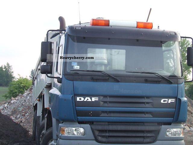 2002 DAF  CF 75.360 8X4 TIPPER Truck over 7.5t Tipper photo
