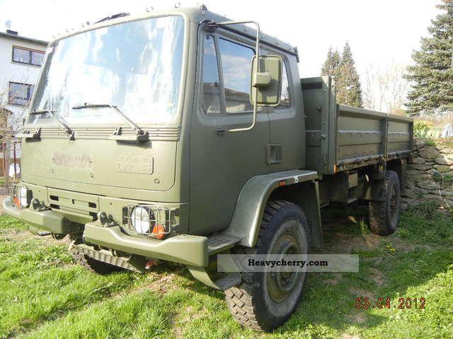 DAF Leyland T244 4x4 1991 Stake body and tarpaulin Truck