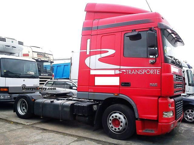 2003 DAF  XF95 430 Semi-trailer truck Volume trailer photo