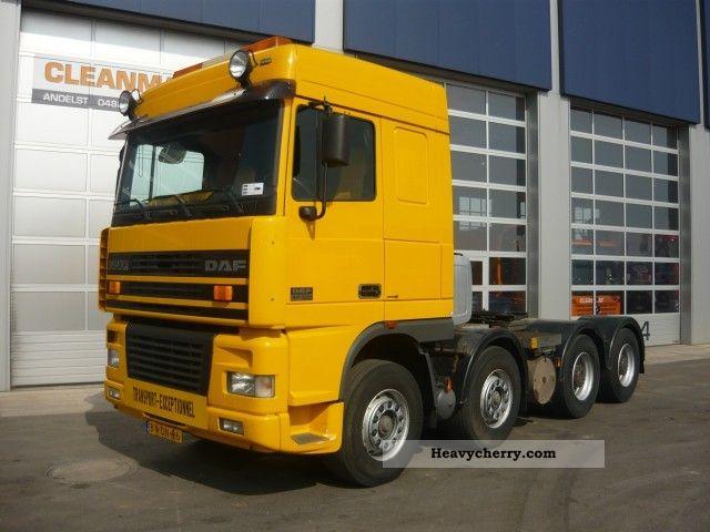 daf ftd 95 xf 530 8x4 2002 standard tractor trailer unit. Black Bedroom Furniture Sets. Home Design Ideas