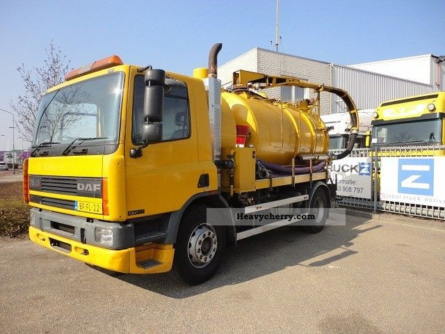 1996 DAF  FA75-240 RHD FULL STEEL COMBI KOLKENZUIGER (HIGH Truck over 7.5t Vacuum and pressure vehicle photo