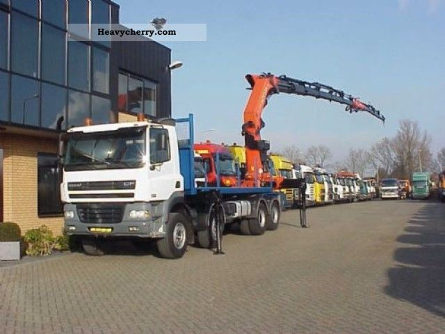 2003 DAF  CF 85 430 8X4 + Kraan PK 72002 + JIB Truck over 7.5t Stake body photo