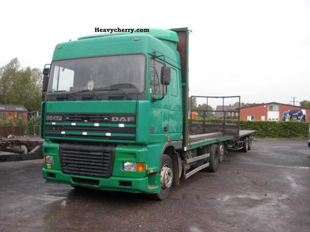 1999 DAF  95 XF-380 6X2 + + Trailer Truck over 7.5t Stake body photo