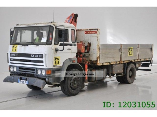 1989 DAF  2300 Truck over 7.5t Stake body photo