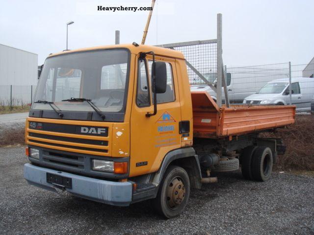 1992 DAF  45 150 Dreiseitenkipper 141000km Van or truck up to 7.5t Tipper photo