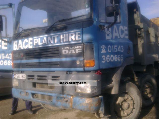 1998 DAF  85 Truck over 7.5t Tipper photo