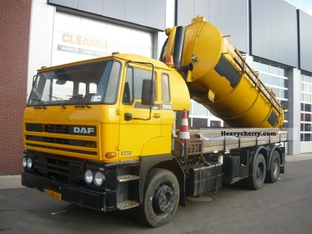 1991 DAF  2900 6x4 Truck over 7.5t Vacuum and pressure vehicle photo