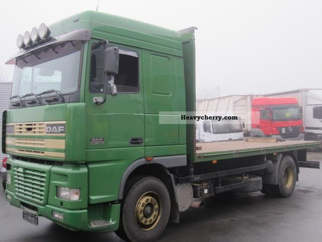 2001 DAF  95 XF 430 (AE95XF), plateau Truck over 7.5t Stake body photo