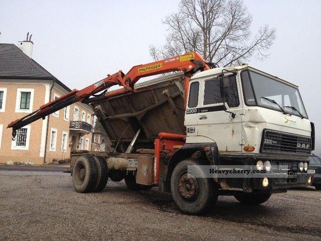 1984 DAF  FA2305 TURBO 3-S-9700 YEAR 1984 TRUCK + PK Truck over 7.5t Three-sided Tipper photo
