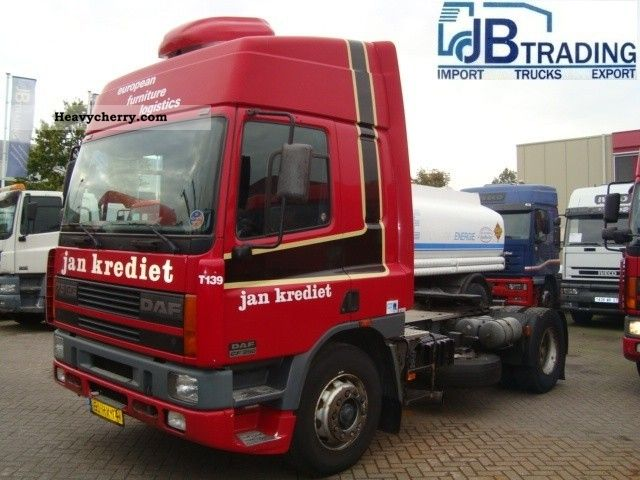 2000 DAF  75 CF 250 truck dutch Semi-trailer truck Standard tractor/trailer unit photo