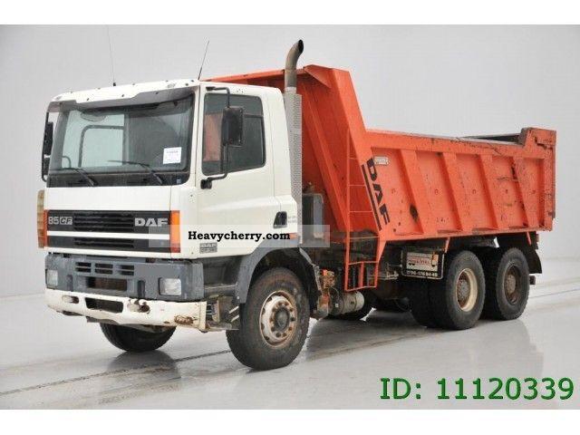 2001 DAF  CF 85.380 - 6X4 Truck over 7.5t Tipper photo
