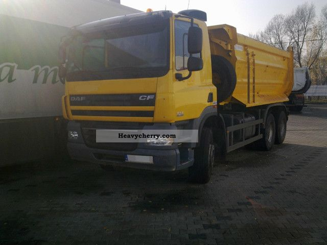 2008 DAF  CF 85 6x4 360T/ZWR Truck over 7.5t Tipper photo