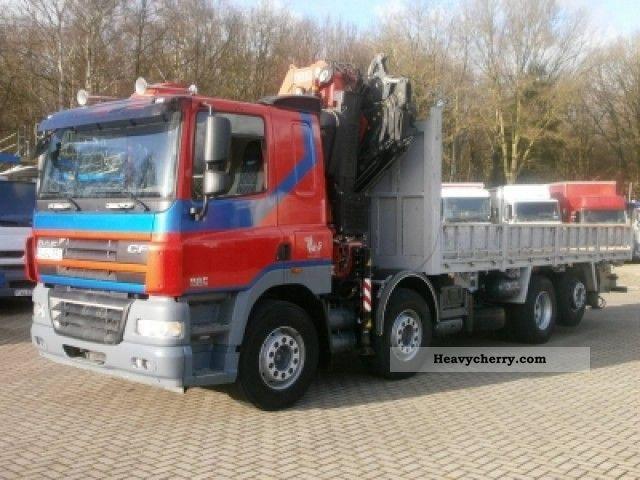 2007 DAF  CF 85.460 Fassi F455XP Truck over 7.5t Stake body photo