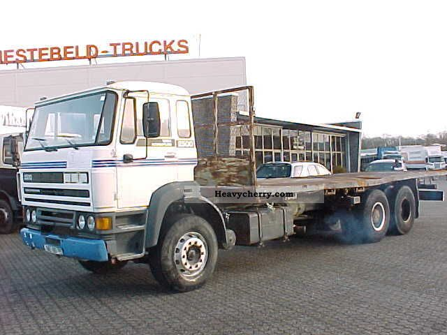 1988 DAF  FAS 2500 6x2 sheet Truck over 7.5t Stake body photo