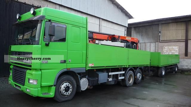 2000 DAF  AS95XF with cranes and trailers Kogel / AS95 XF Kra Truck over 7.5t Stake body photo