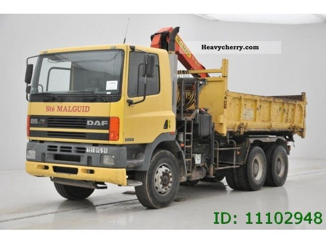 1997 DAF  CF 85.360 - 6X4 Truck over 7.5t Tipper photo