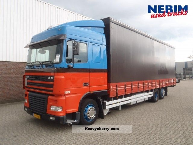 2003 DAF  XF95 380 6x2R Kuhl / Pritche Truck over 7.5t Stake body and tarpaulin photo