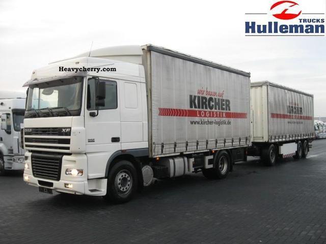 2006 DAF  XF95.430 4X2 RETARDER EURO 3 100 CM3 Truck over 7.5t Stake body photo