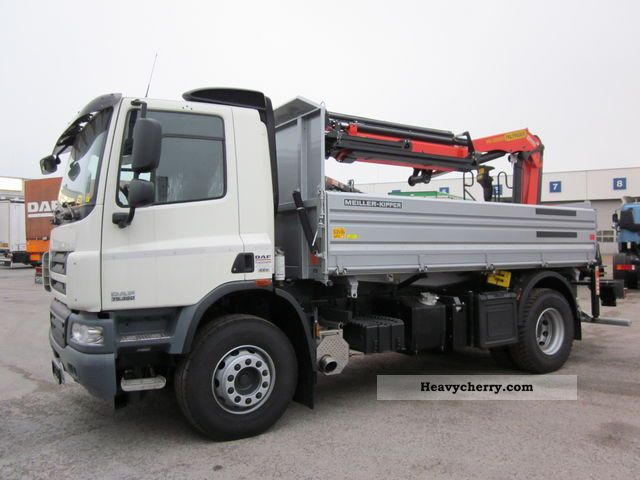2011 DAF  FA-3S 75 360 Tipper Crane: Palfinger PK13002 Truck over 7.5t Tipper photo
