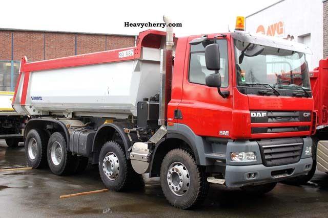2008 DAF  CF 85.410 8x4, Meiller dump 16.8 cubic meters, intarder, E5 Truck over 7.5t Tipper photo