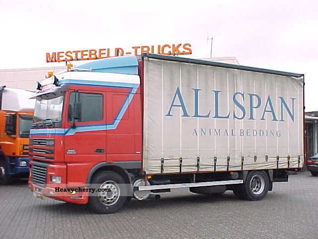 2000 DAF  FA95.380XF EURO 2 Truck over 7.5t Stake body photo