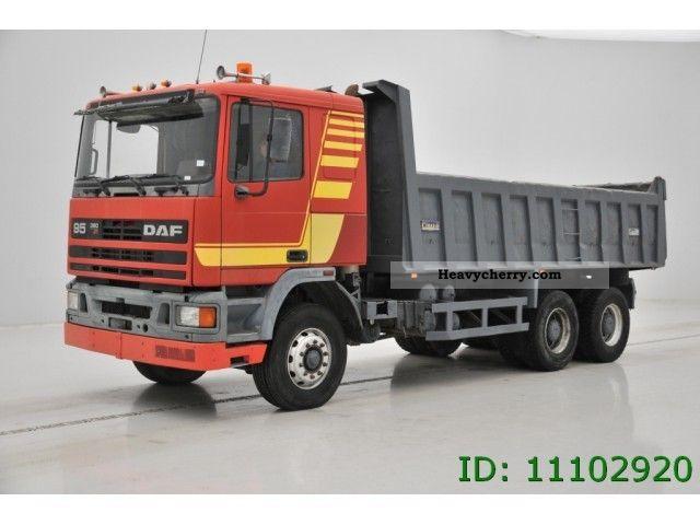 1990 DAF  95 380 - 6X4 Truck over 7.5t Tipper photo