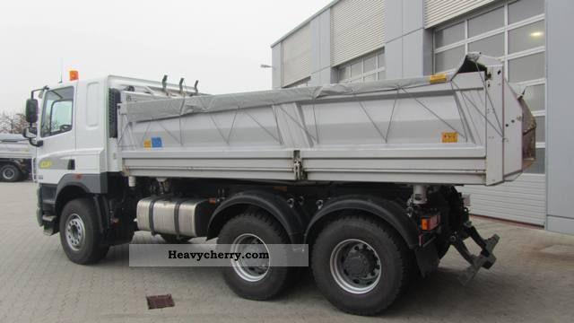 2011 DAF  3-way tipper Meiller CF85.460 Bordmatic Truck over 7.5t Tipper photo