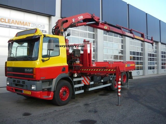 1996 DAF  FAS 85 360, Hiab 330-4 Truck over 7.5t Stake body photo