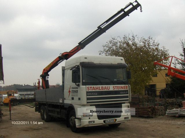 1998 DAF  95 XF 480 + HDS PALFINGER PK 21000C max 7.65 Truck over 7.5t Stake body photo