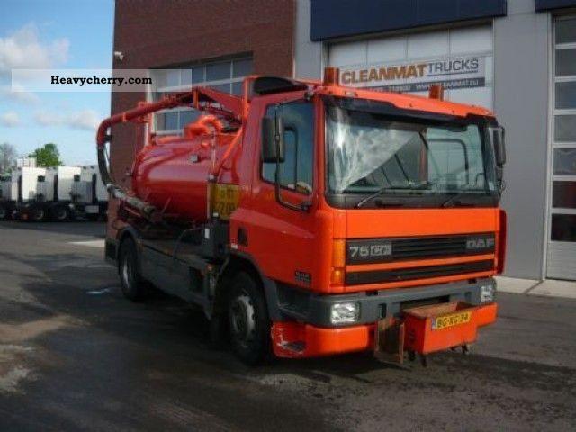 1998 DAF  FA 75 CF 250 Truck over 7.5t Vacuum and pressure vehicle photo