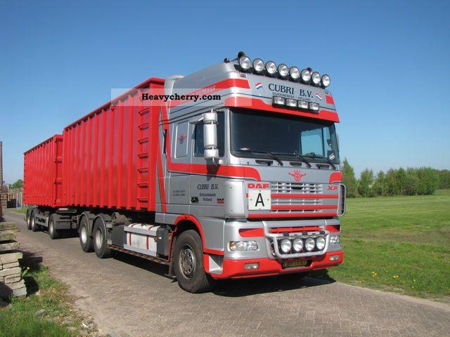 2003 DAF  XF 95 530 Truck over 7.5t Dumper truck photo
