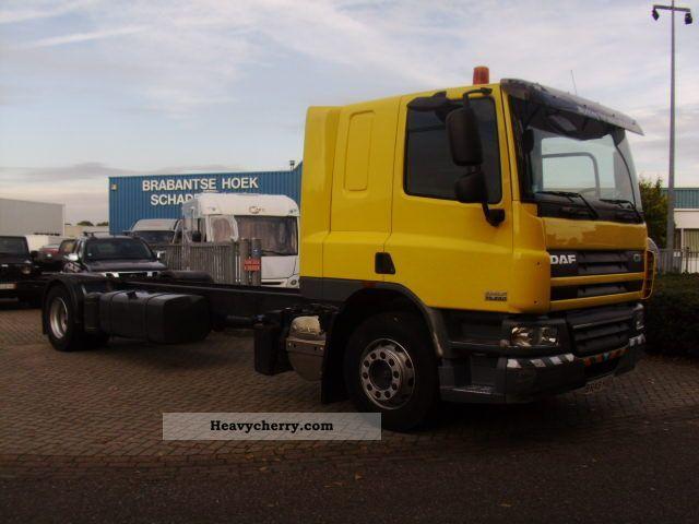 2009 DAF  CF 75 .250 19 ton 95000km Truck over 7.5t Stake body photo