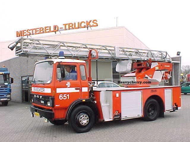1982 DAF  FA1300 METZ LADDER Truck over 7.5t Hydraulic work platform photo