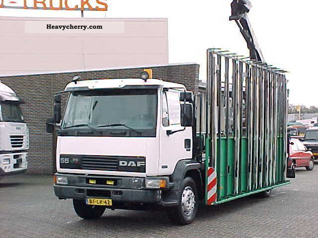 1997 DAF  FA55.210 PALFINGER Truck over 7.5t Stake body photo