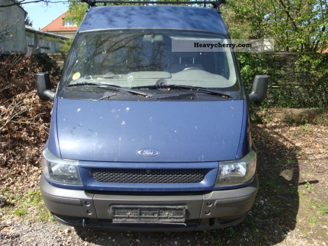 2001 Ford  Transit T300 High + long trailer hitch Van or truck up to 7.5t Box-type delivery van - high and long photo