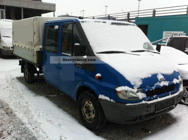 2003 Ford  Transit 125T330 DOKA / Flatbed / tarpaulin / EURO3 Van or truck up to 7.5t Stake body and tarpaulin photo