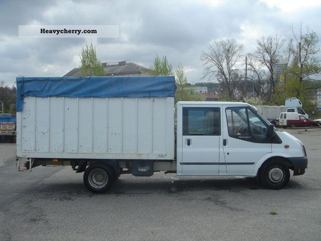 Ford Transit 350el Double Cab Pritsche Plane 2008 Stake Body And