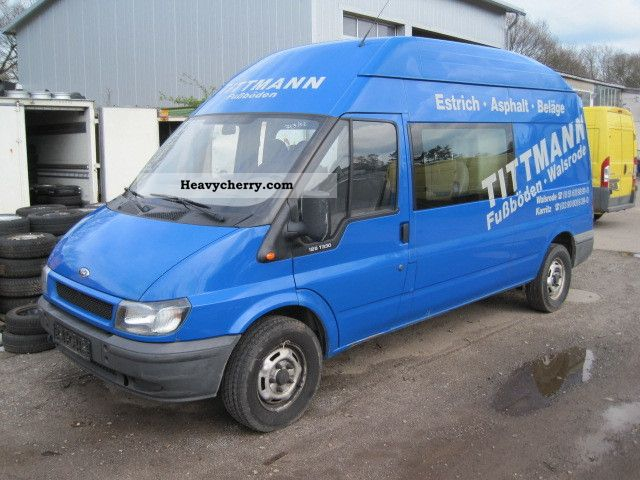 2003 Ford  Transit 2.4 TDCi 125 T330 6-seater high + long truck Van or truck up to 7.5t Box-type delivery van - high and long photo