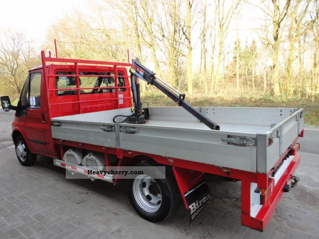 Ford transit flatbed crane 2 4tddi dl only 44300km 2003 truck mounted crane photo and specs