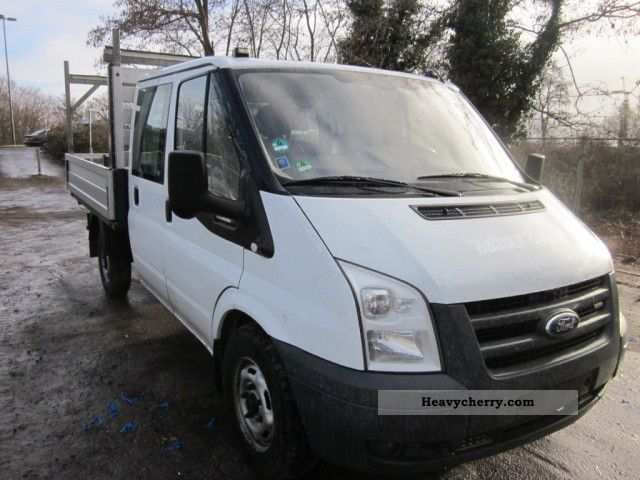 2008 Ford  Transit 2.4 TDCi 330 100T Doka Van or truck up to 7.5t Stake body photo